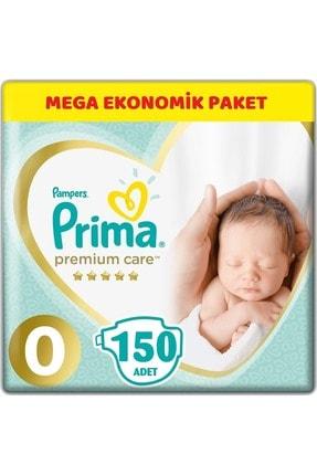 Prima Premium Care Bebek Bezi Beden:0 (1.5-2.5kg) Prematüre 150 Adet Mega Ekonomik Pk