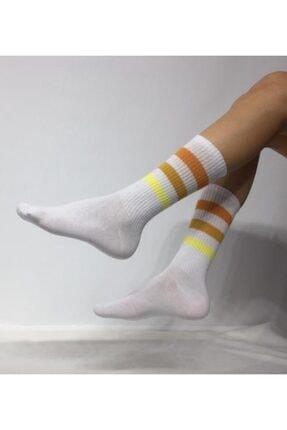 ADEL ÇORAP Unisex 3 Şeritli Soket (Uzun) Çorap