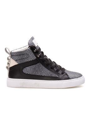 Pegia Kadın Gri Hakiki Deri Sneaker La1209