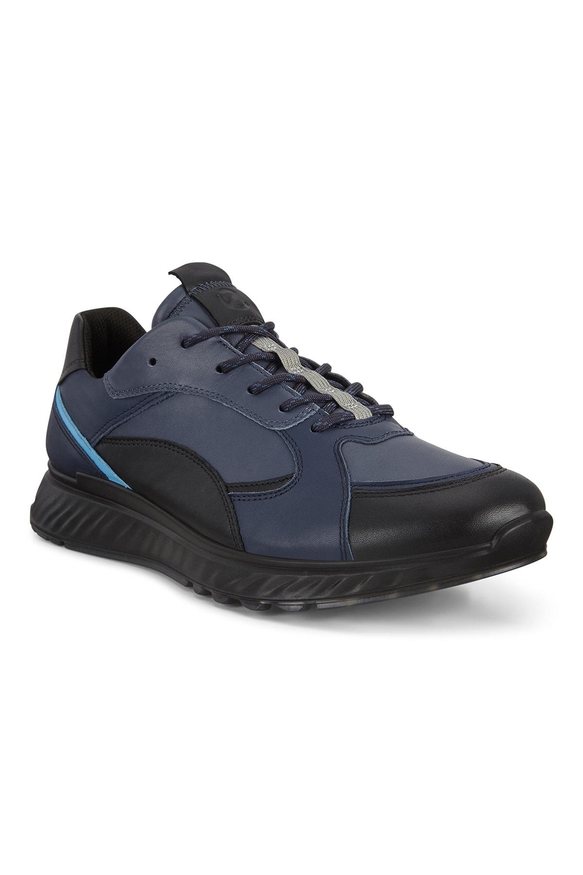 Ecco Lacivert Erkek St.1 M Black/Marine/Ombre/Sky Blue Outdoor Ayakkabı 836234 1