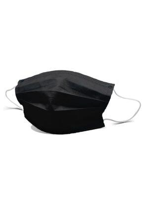 Ion Mask Siyah 3 Katlı Telli Medikal Cerrahi Maske 100 Adet