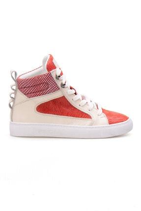 Pegia Kadın Kırmızı Hakiki Deri Sneaker La1213