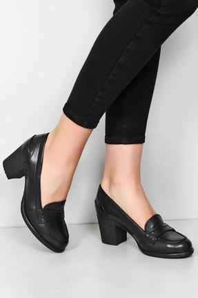 G.Ö.N Gön Hakiki Deri Kadın Topuklu Ayakkabı 24072