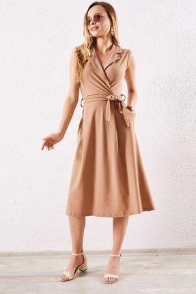 Zafoni Kadın Kahverengi Günlük Elbise