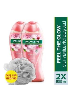 Palmolive Aroma Sensations Feel The Glow Cilt Yenileyici Duş Jeli 500 Ml X 2 Adet + Duş Lifi Hediye