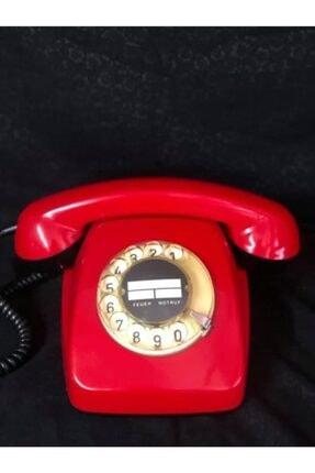 Keskin Hediyelik Antika Çevirmeli Telefon Kırımızı Renk
