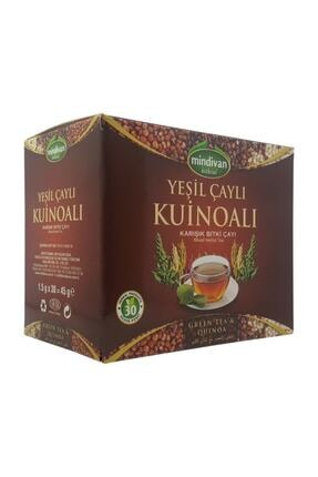 Mindivan Yeşil Çaylı Kinoa Karışık Bitki Çayı 30 Süzen Poşet