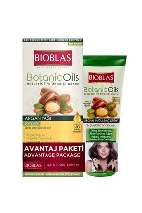 Bioblas Botanic Oils Argan Yağı Şampuan 360 Ml + Saç Kremi 200 Ml