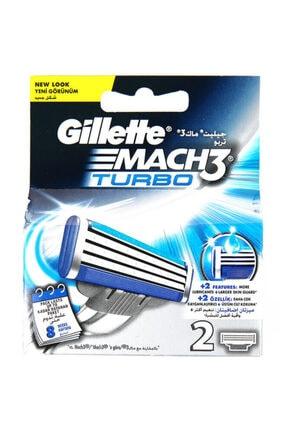 Gillette Mach3 Turbo Yedek Tıraş Bıçağı 2'li