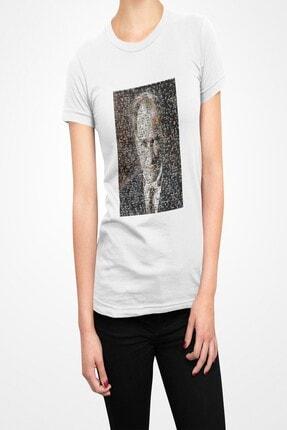 Tshigo Kadın Beyaz Atatürk Tişört
