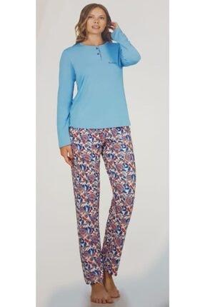 Pierre Cardin Kadın Turkuaz Pijama Takımı 1129