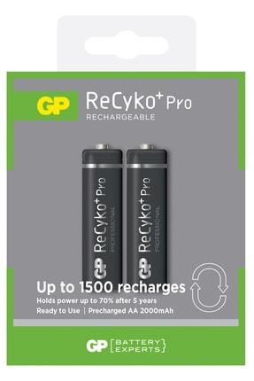 GP Batteries Recyko+ Pro Aa Kalem 2000 Mah Ni-mh Şarjlı Pil, 1.2 Volt, 2'li Kart
