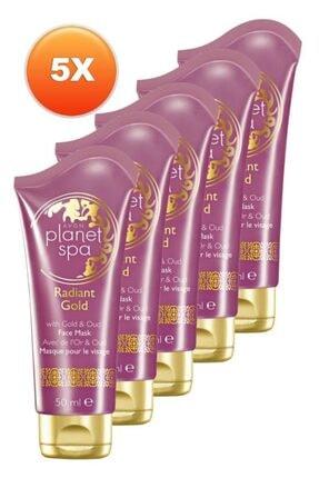 AVON Planet Spa Radiant Gold Yüz Maskesi 50 Ml. Beşli Set