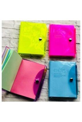 Origami Neon Renk Kalemli Bloknot