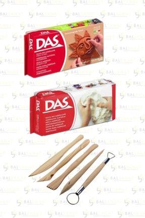 BAL SANAT Das Beyaz+kahve Seramik Kili Modelaj Set