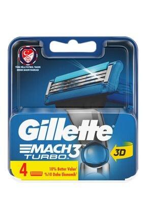 Gillette Mach3 Turbo 3d 4lü Yedek Bıçak