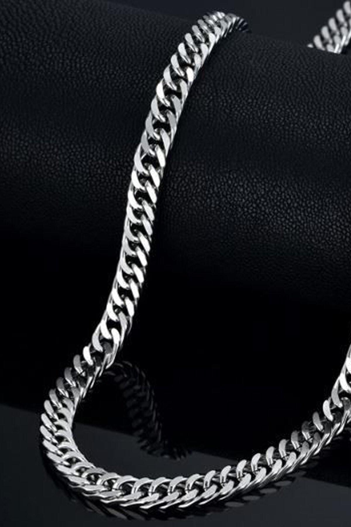 X-Lady Accessories Kalın 6mm Sık Aralıklı Yassı Zincir 1