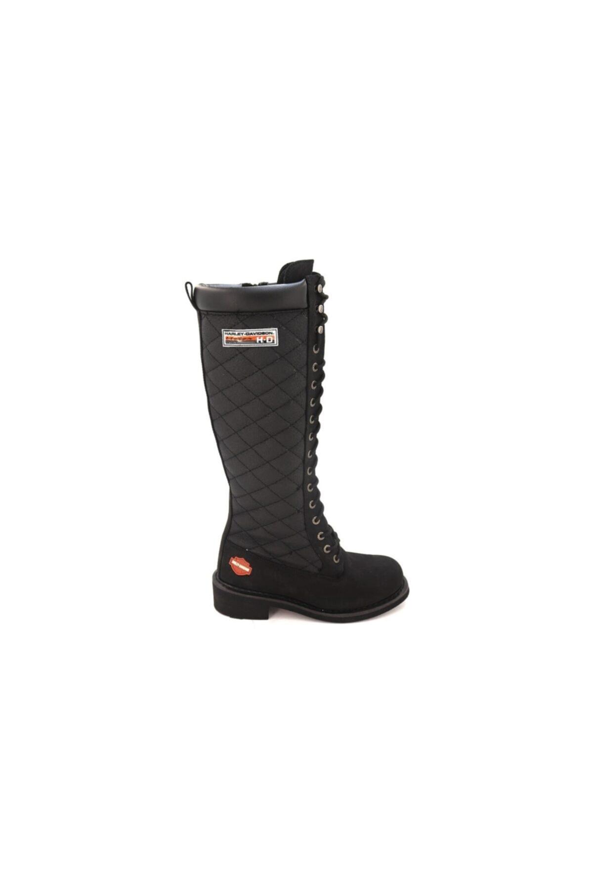 Harley Davidson Kadın Siyah Nubuk  Çizme 1