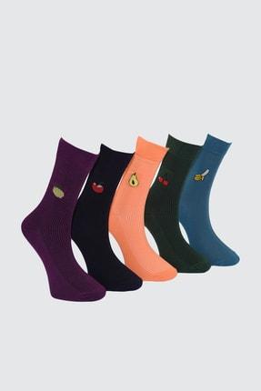 TRENDYOL MAN Çok Renkli Erkek 5'li Paket Soket Çorap TMNAW21CO0065