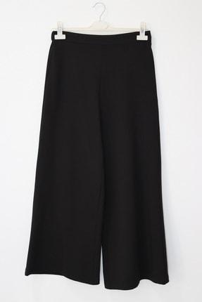 Loreen Kadın Siyah Pantolon Geniş Paçalı Bel Lastikli