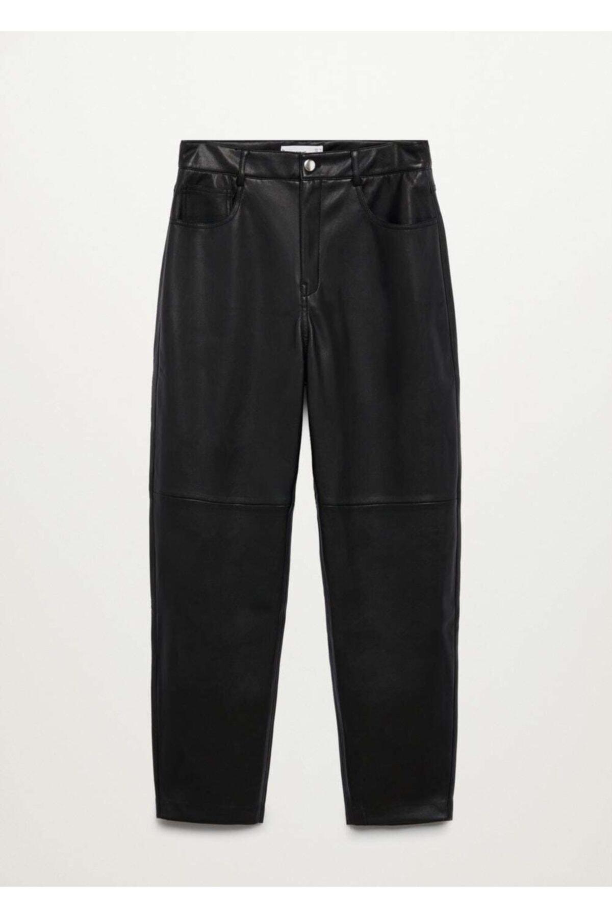 MANGO Woman Kadın Siyah Pantolon 1