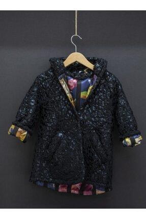 Le Petitos Kız Çocuk Siyah Peluş Palto
