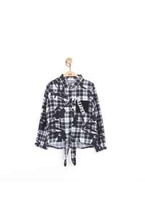 NK Kız Çocuk Siyah Dark Ekose Gömlek 33101