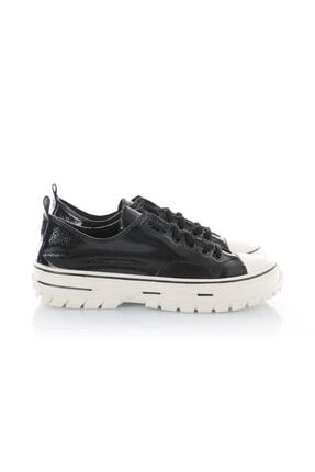 Oblavion Kadın Siyah Rugan Rena Kanvas Sneaker