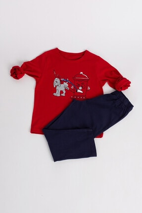 Hays Erkek Çocuk Kırmızı Pijama Takımı