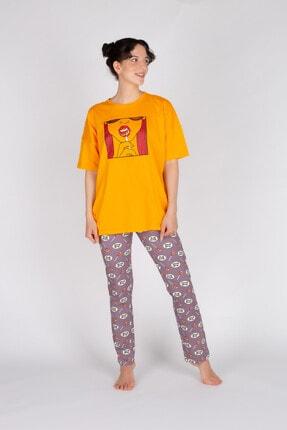 Hays Kadın Lila  Pamuklu Uzun Pijama Takımı