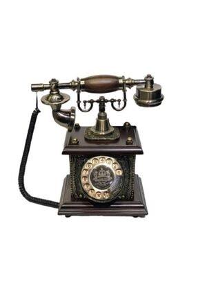 CLASSİC Kahverengi Matia Çevirmeli Ahizeli Telefon