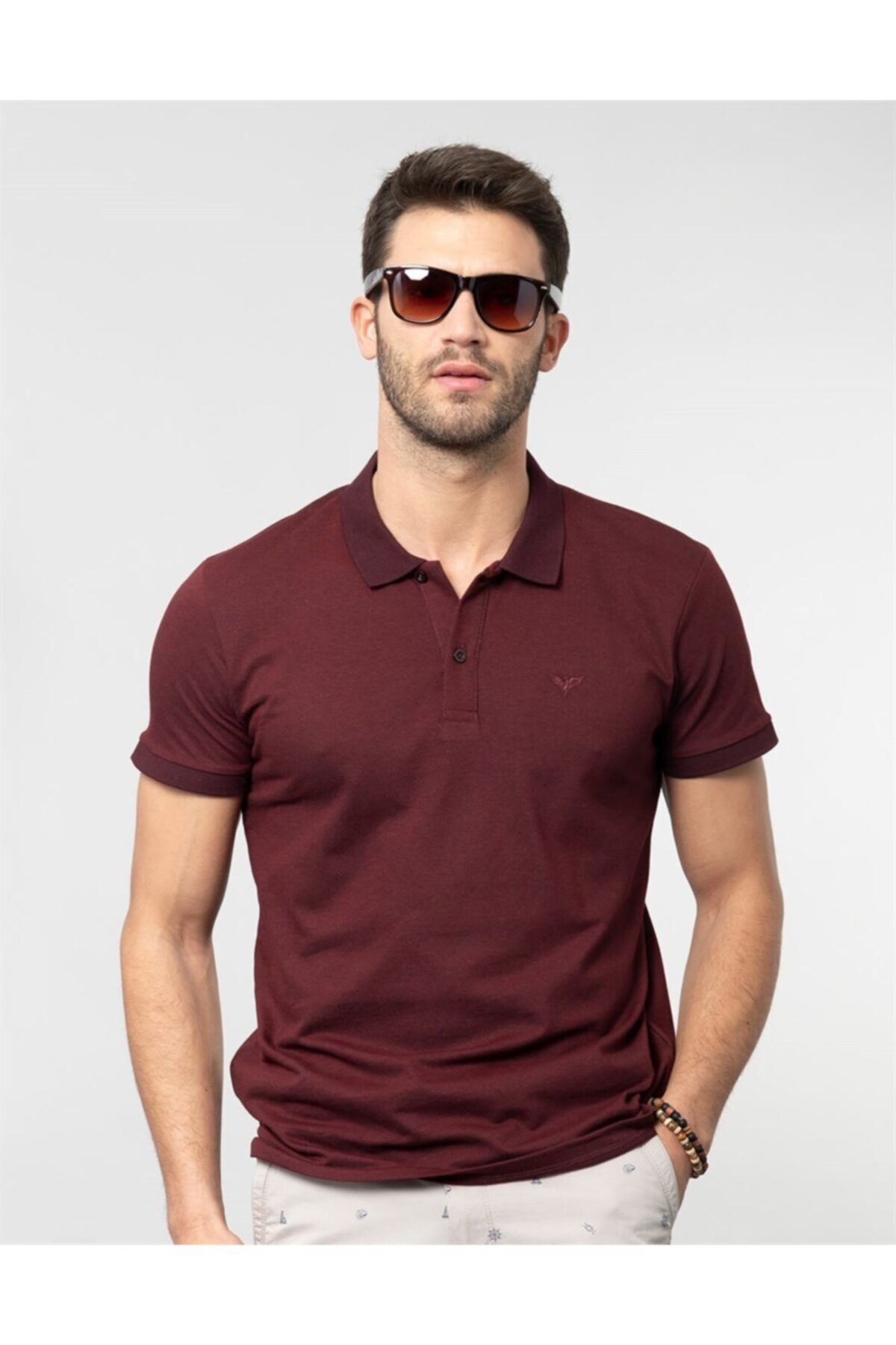 Tudors Erkek Bordo Polo Yaka Spor T-shirt 1