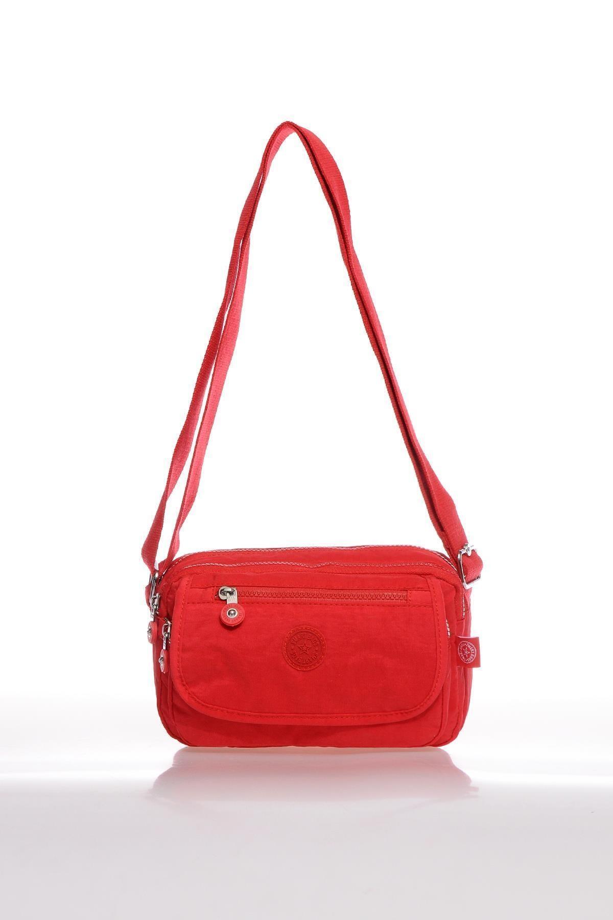 SMART BAGS Kadın Kırmızı Çapraz Çanta 1