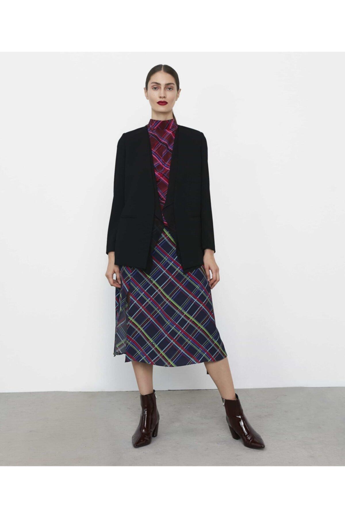 İpekyol Kadın Siyah Şifon Mixli Ceket IW6190005075001 1