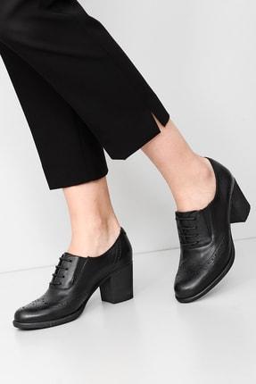 G.Ö.N Gön Hakiki Deri Kadın Topuklu Ayakkabı 24040