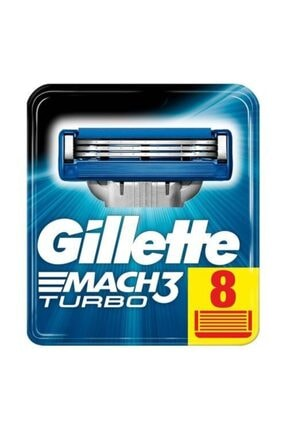 Gillette Mach3 Turbo Yedek Tıraş Bıçağı 8 Li