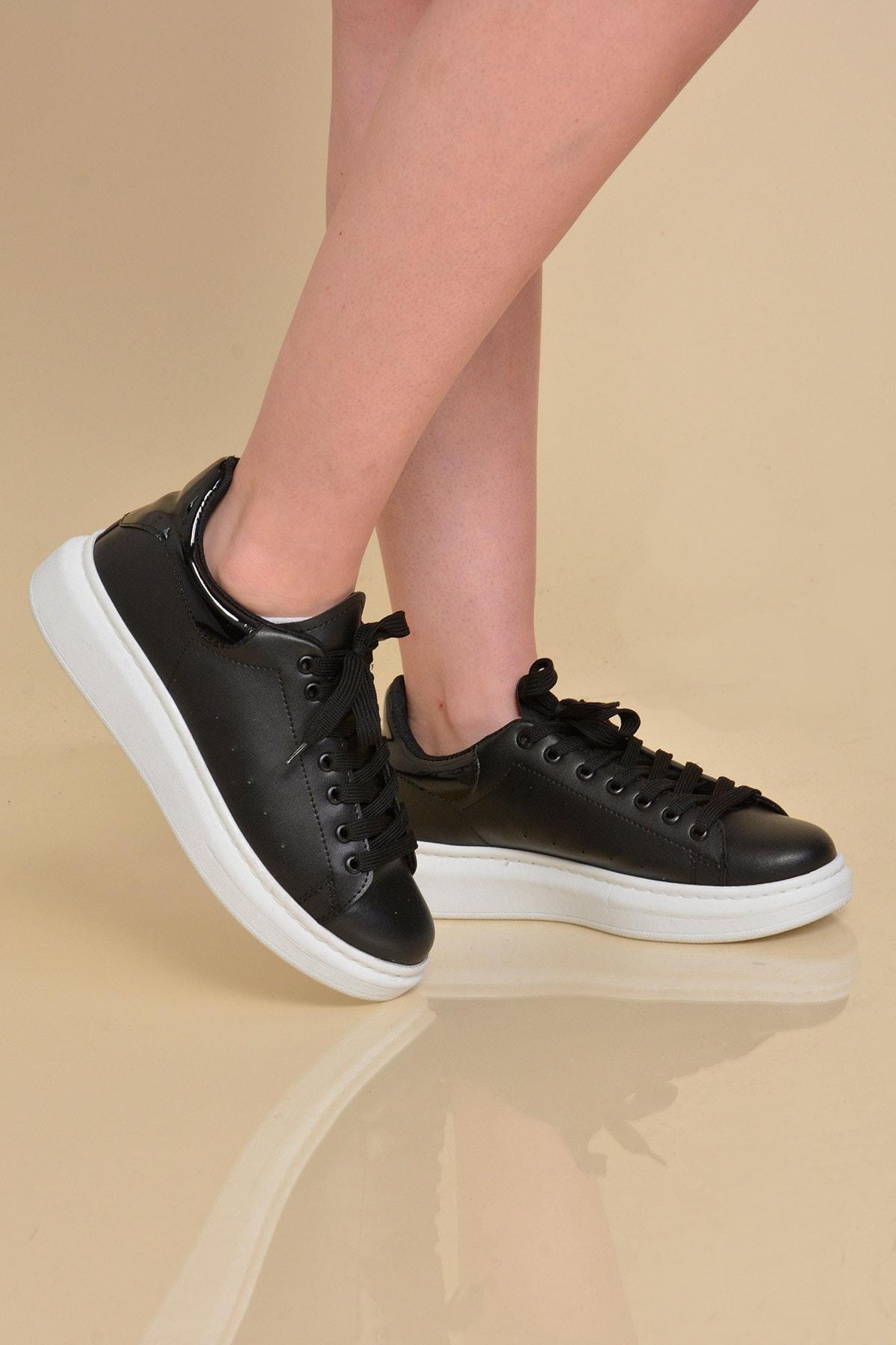 Mossta Kadın Siyah Basic Spor Ayakkabı 1