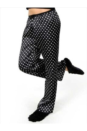 Miorre Kadın Siyah Saten Pijama Altı