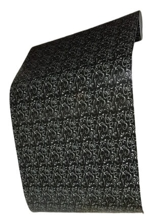 polset Kendinden Yapışkanlı Folyo Pvc Kaplama Kağıt - Siyah Sarmaşık 45cmx15 Mt