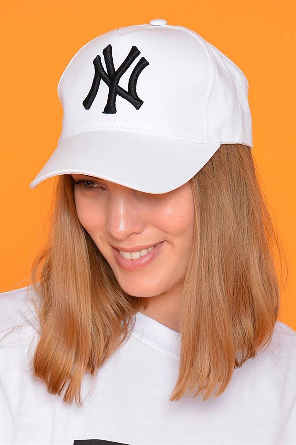 Mossta Unisex Beyaz New York Şapka 1
