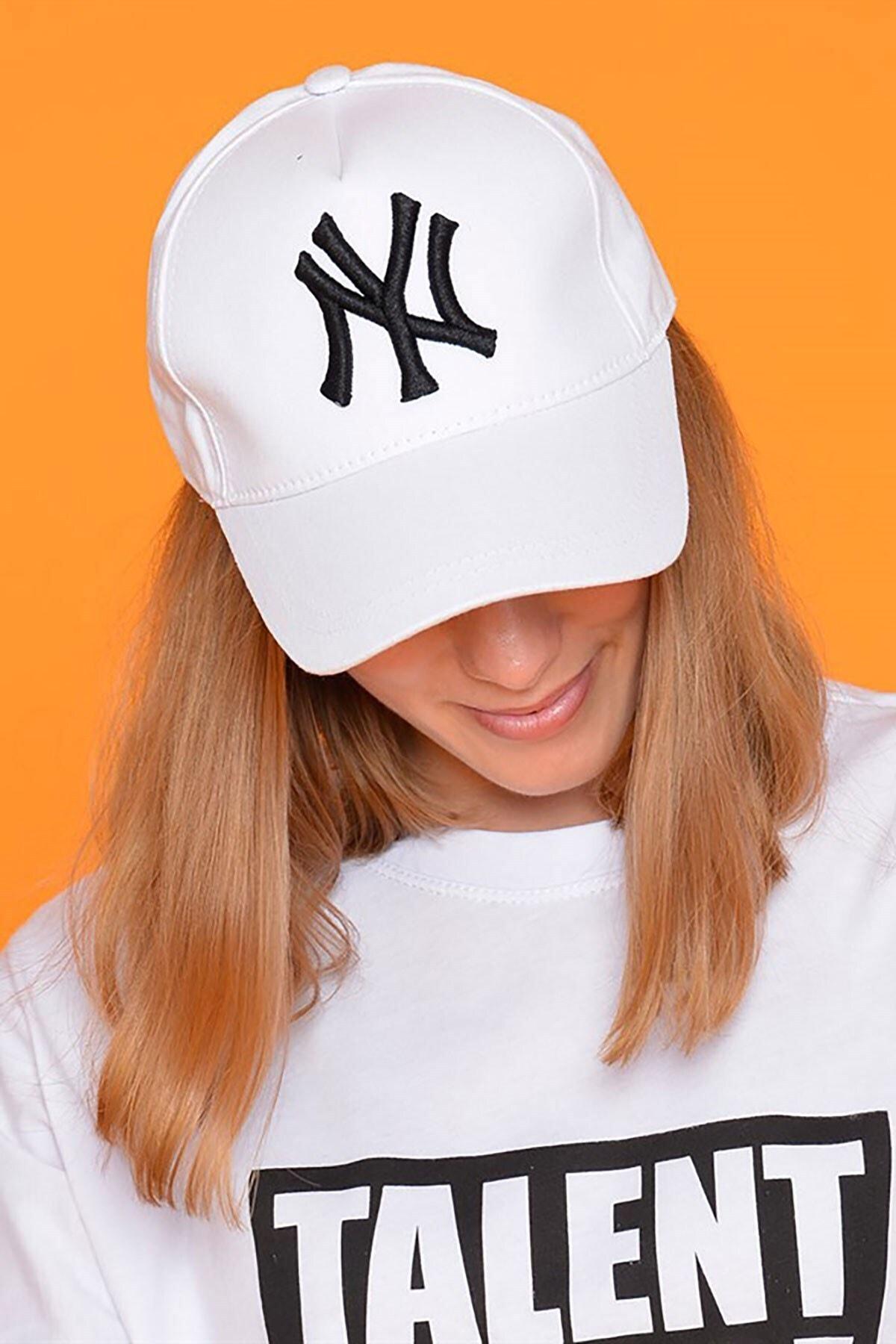 Mossta Unisex Beyaz New York Şapka 2