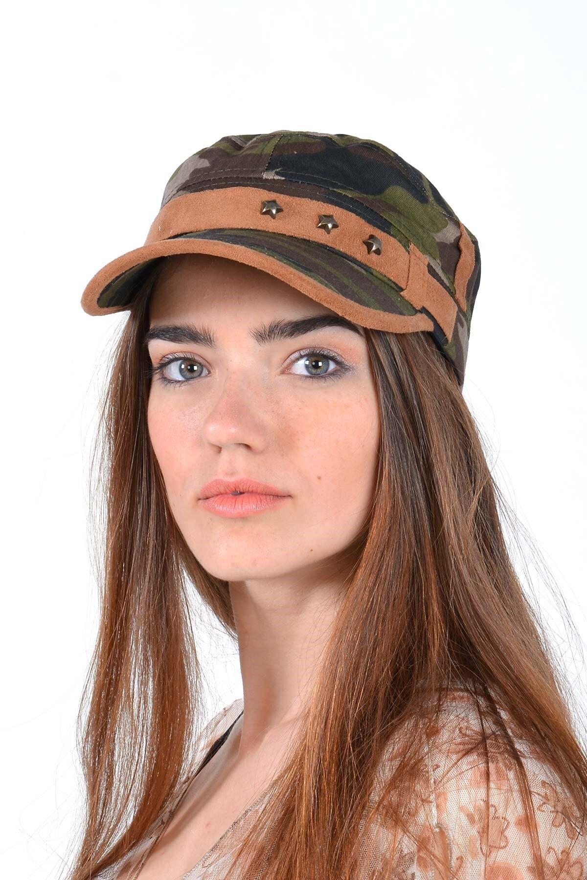 Mossta Unisex Yeşil Kamuflaj Şapka 1