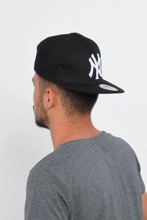 Mossta Erkek Siyah New York Ny Baskılı Snapback Kep