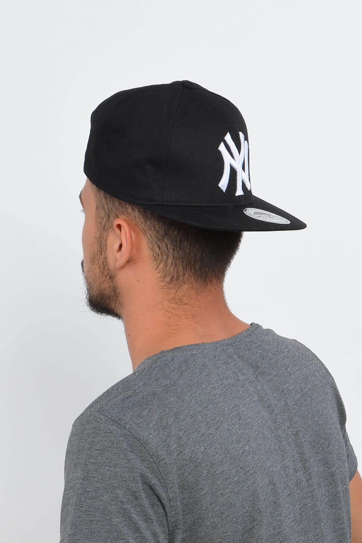 Mossta Erkek Siyah New York Ny Baskılı Snapback Kep 1