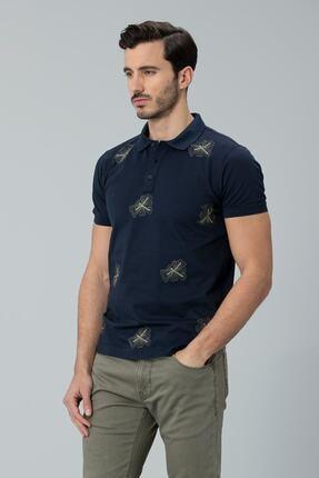 Lufian Alpaca Spor Polo T- Shirt Lacivert