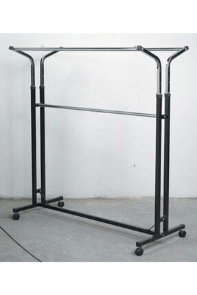 vitrinraf Tekerlekli Stand Askılık (eşek) Çift Katlı