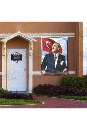 Asilmeydan Göğe Bakan Gazi Mustafa Kemal Atatürk -türk Bayrağı Poster - Bayrak 100x150 Cm