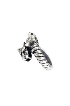 Giulens Ayarlanabilir Antik Gümüş Dragon Erkek Yüzük