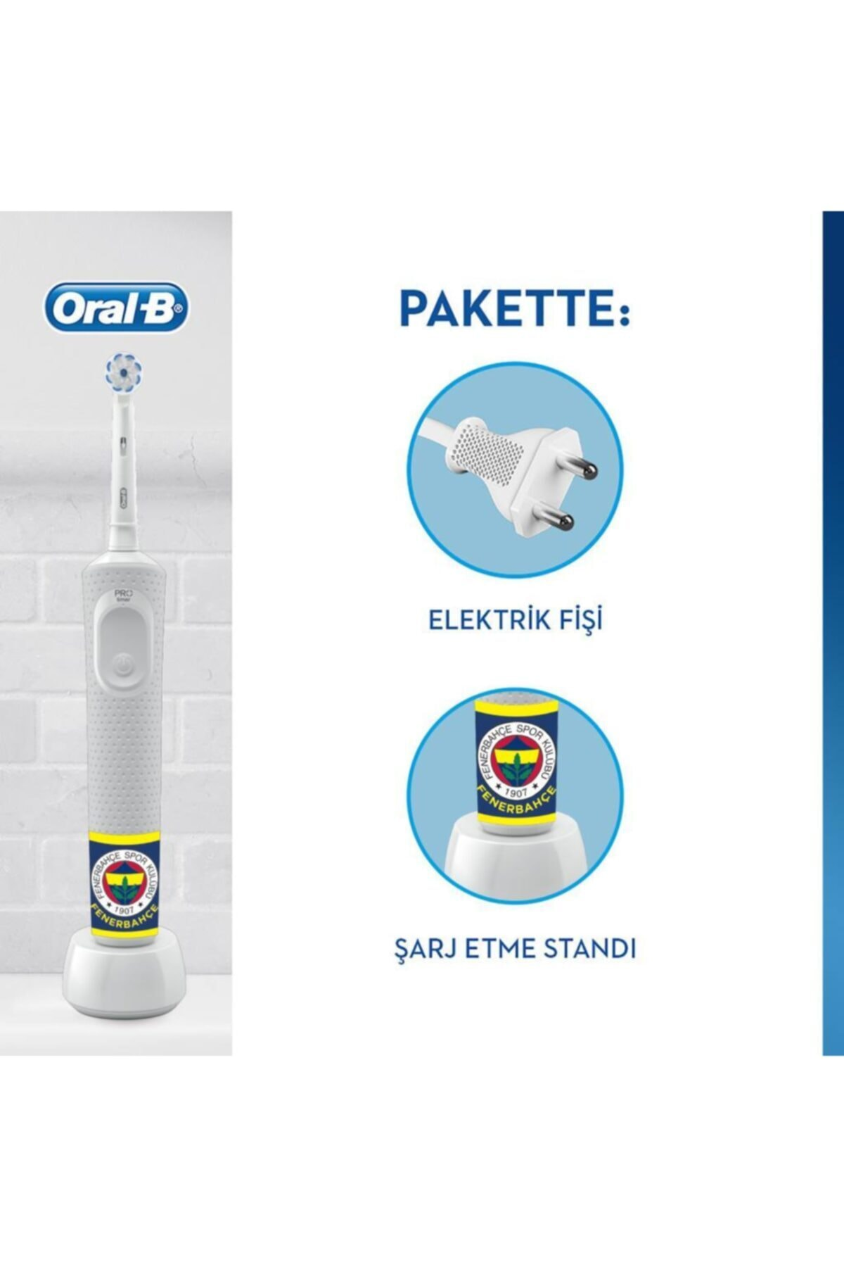 Oral-B D100 Şarjlı Fırça Fenerbahçe Taraftar Paketi 2