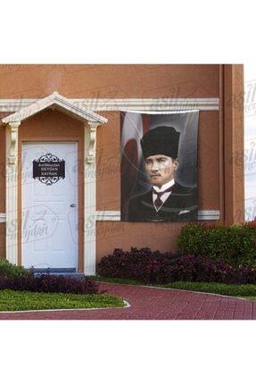 Asilmeydan Kalpaklı Gazi Mustafa Kemal Atatürk - Ay Yıldız - Türk Bayrağı Poster - Bayrak 100x150 Cm